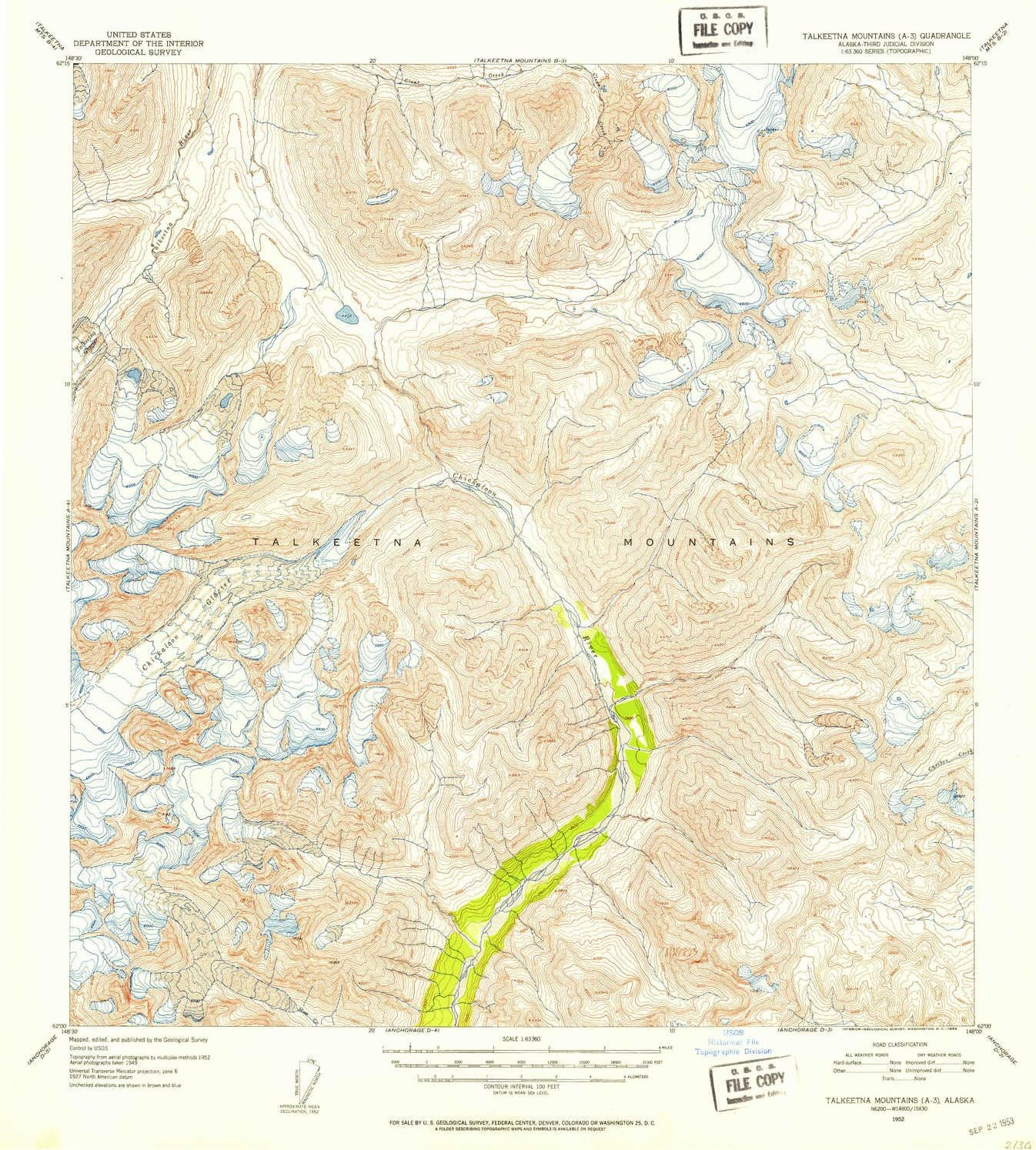 Free Shipping Cheap Bargain Gift YellowMaps Talkeetna Mountains A 3 AK map 1:63360 1 Scale We OFFer at cheap prices topo