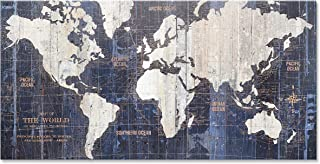 Homekor Old World Map - Travel Map Wall Art Canvas 20x40