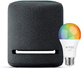 Echo Studio – High-fidelity smart speaker with Wyze Color bulb – Alexa smart home starter kit