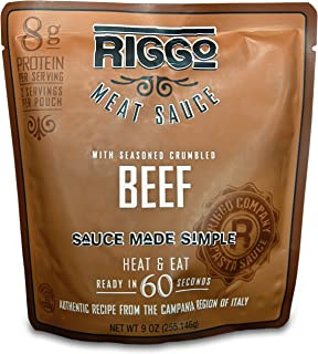 RIGGO Keto Pasta Meat Sauce - 8 Spaghetti Sauce Packets with Gourmet Italian Flavors (2 Servings Ground Beef)
