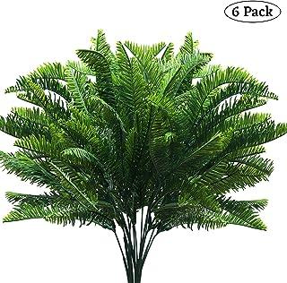 BELLE VOUS Planta Artificial Boston Helechos (6 Piezas) - 37,5cm Artificiales Boston Arbustos Helecho Verde Plantas para Exteriores, Interiores, Hogar, Colgante, Jardín, Oficina y Decoración Boda