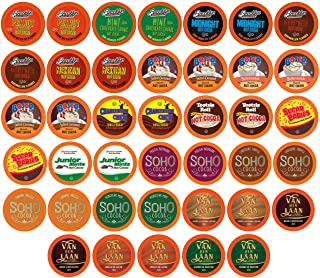 Two Rivers Chocolate Hot Cocoa Pods, Single Serve Variety Sampler Pack Compatible with 2.0 Keurig K-Cup Brewers, 40 Count...