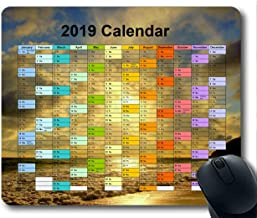 2019 Calendar Pads,Mouse pad,Starry Sky Galaxy Gaming Mouse pad