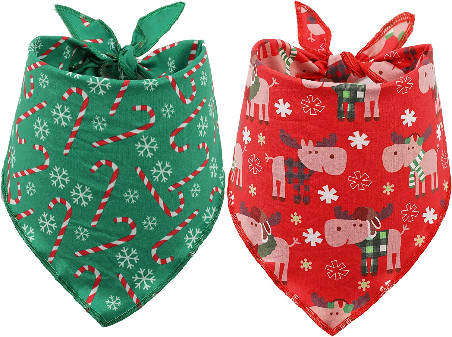 BoomBone 2 Pack Christmas Bandana for Pet Sca Shipping included Triangle Genuine Free Shipping Dogs Bibs
