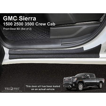 SENYAZON Car Threshold Pedal Sticker for GMC Sierra Truck Decoration Scuff Plate Carbon Fibre Vinyl Sticker Car Accessories car-Styling Blue
