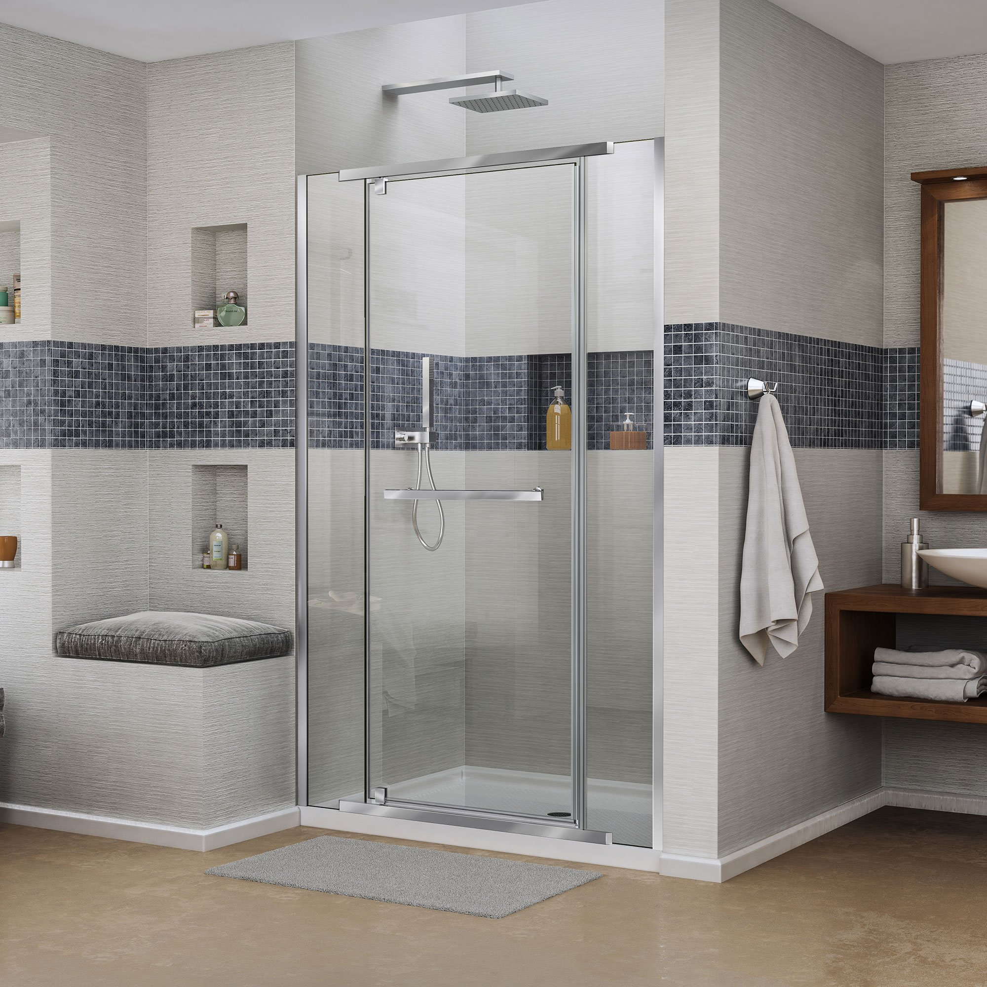 Vitreo-x DreamLine a 58 cm 149,23 mampara de ducha sin Marco puerta, claro 0,95 cm puertas de vidrio, cromo Finis: Amazon.es: Bricolaje y herramientas