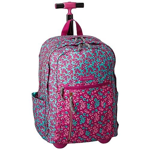 Vera Bradley Lighten Up Rolling Backpack, Polyester