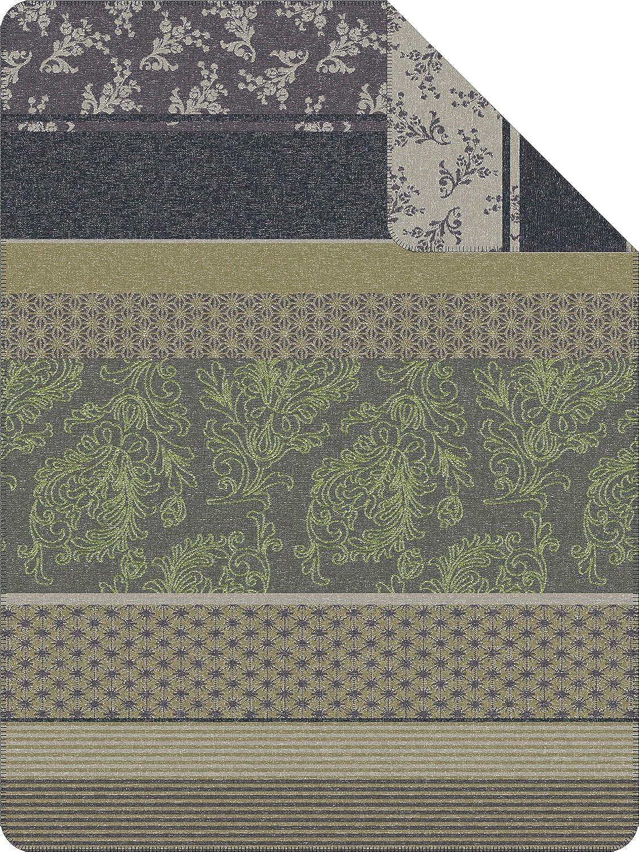 Ibena Wohndecke Wexford grün grau Größe 150x200 cm B075RRWJ9K