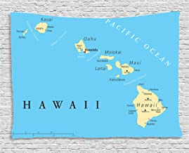 product map of hawaii