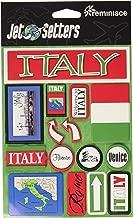Reminisce Jet Setters Self-Adhesive Epoxy Embellishments, Italy