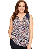 Lucky Brand - Plus Size Della Floral Shell