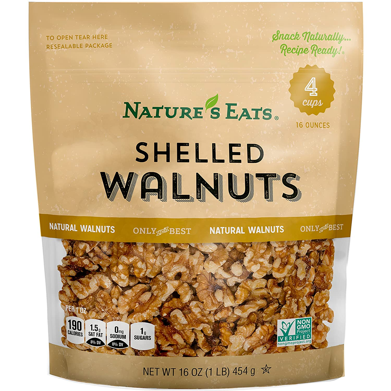 Nature's Eats Max 52% OFF Walnuts Ounce 16 Fresno Mall