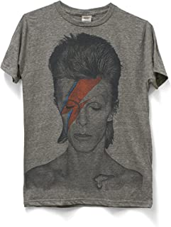 David Bowie Aladdin Sane Lightning Bolt Photo Ladies Juniors Dolman T-shirt top