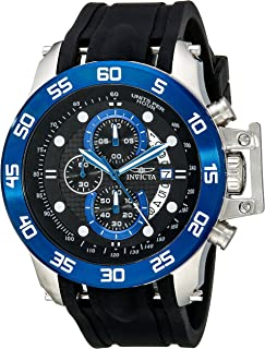 Men's 19252 I-Force Stainless Steel Watch With Black Synthetic Band