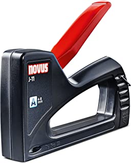 Novus Hand Tacker J-11 - ABS Plastic Staple Gun - Small & Lightweight for DIY and Crafting - For Type A 53 Staples 4-8 mm