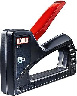 Novus Agrafeuse manuelle J-11 loisirs créatifs - Agrafeuse professionnelle avec corps en plastique ABS - Agrafeuse plate a...
