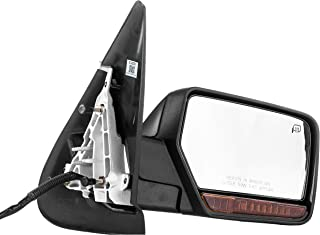 Right Passenger Side Door Mirror for Ford Expedition (2007 2008 2009 2010) Lincoln Navigator(2007 2008 2009 2010 2011) FO1321377 Unpainted Heated Power Folding Outside Rear View Replacement
