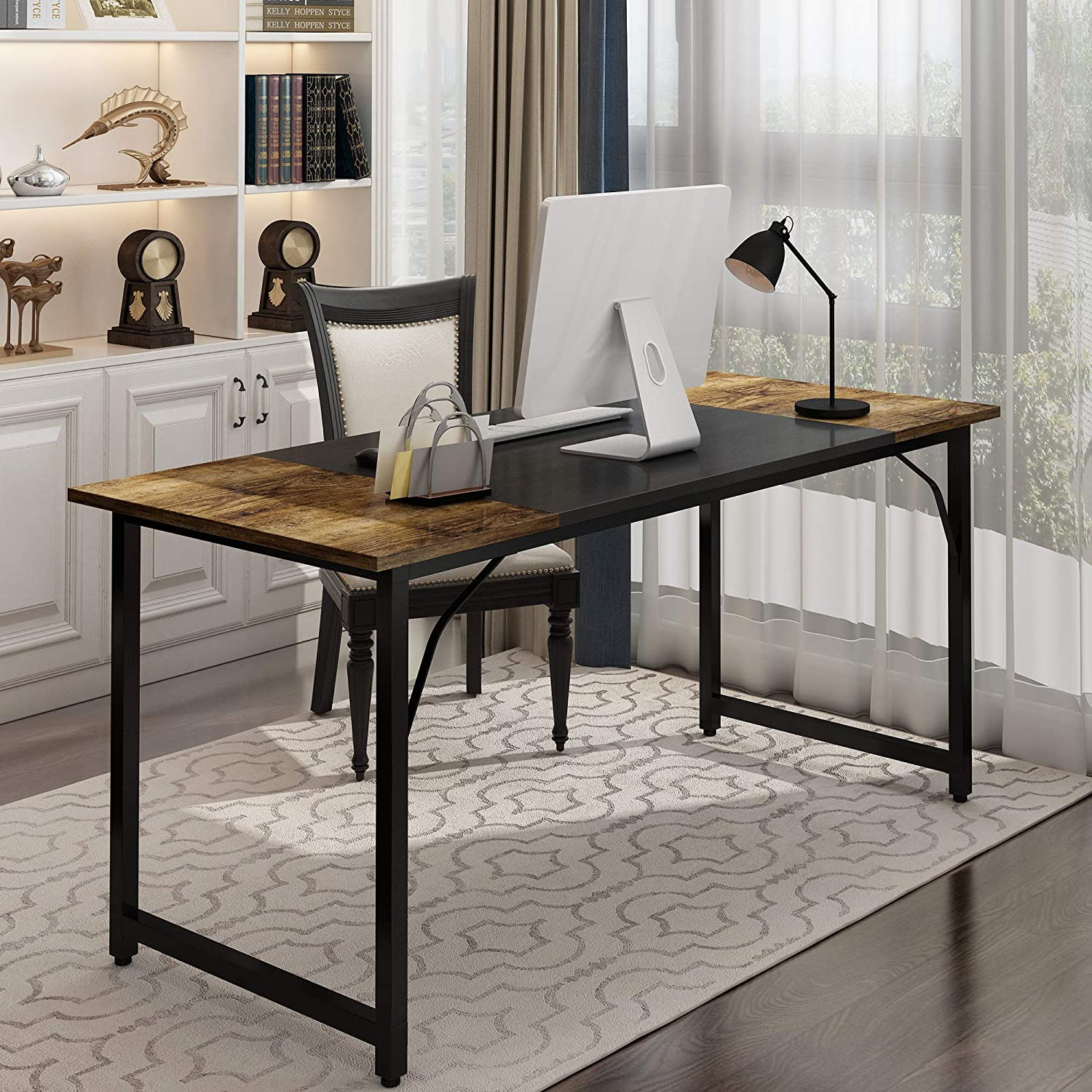 Home Office Computer Desk Writing New York Mall Workstation Bombing free shipping PC Black Met