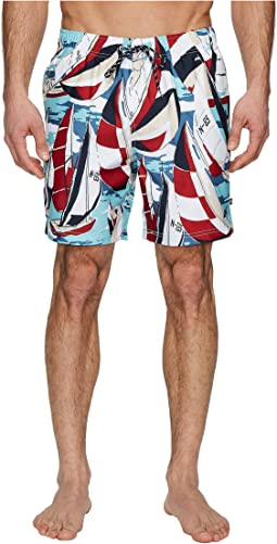 Nautica - All Over Sailboat Print Swim Trunk