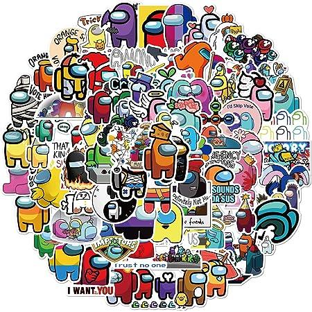100 Pcs Among Us Pegatinas de Vinilo para Ordenador PortáTil para Patineta, Motocicleta, Bicicleta, TeléFono, Ordenador, Parachoques de Coche, CalcomaníA para Equipaje, DIY Parches de Graffiti