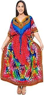 52b75e60855 LA LEELA Femmes Longue Kaftan Tunique Kimono 3D HD Imprimé Grande Taille  Robe pour Loungewear Vacances