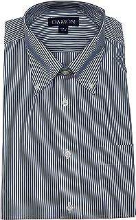 Damon Ultra Poplin Button Down Collar Bengal Stripe Dress Shirt