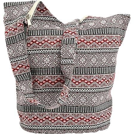 INSOUR Thai Hobo Crossbody Tasche, Groß Schulterbeutel Damen, Doppelter Stoff