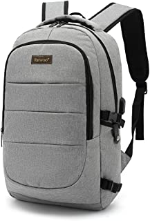 Laptop Backpack for School Travel, Fits 15.6in Computer Durable Casual Anti Theft Backpack Travel Bag, with USB Charging P...