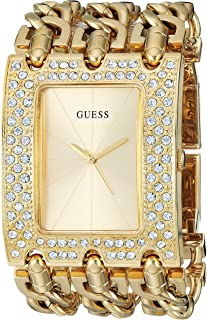 GUESS Women's Quartz Watch with Stainless-Steel Strap, Gold, 46 (Model: U1275L2)
