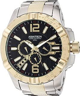 Armitron Men's 20/5209BKTT Multi-Function Dial Two-Tone Bracelet Watch