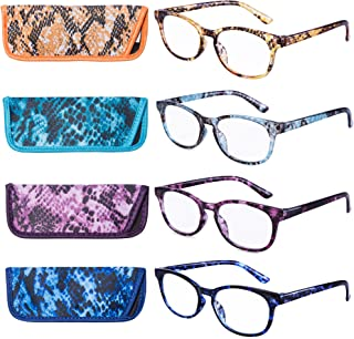 EYEGUARD Reading Glasses 4 Pack Quality Fashion Colorful Readers for Women