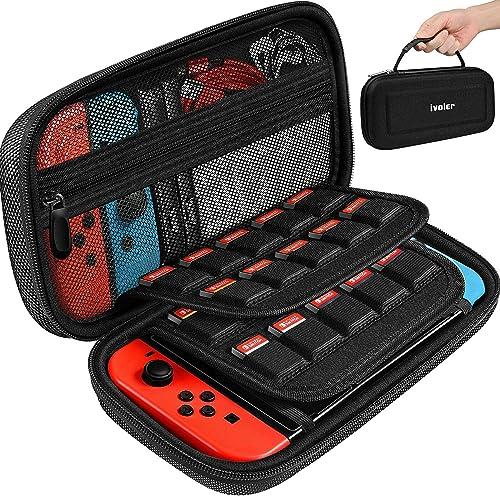 iVoler Etui pour Nintendo Switch avec 2 protecteurs d'écran, Housse sacoche de Transport à Coque Rigide Anti Choc poc...