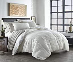 City Scene | Sherman Collection | Duvet Cover Set-100% Cotton, Reversible, OEKO-TEX Certified Bedding with Zipper Closure,...