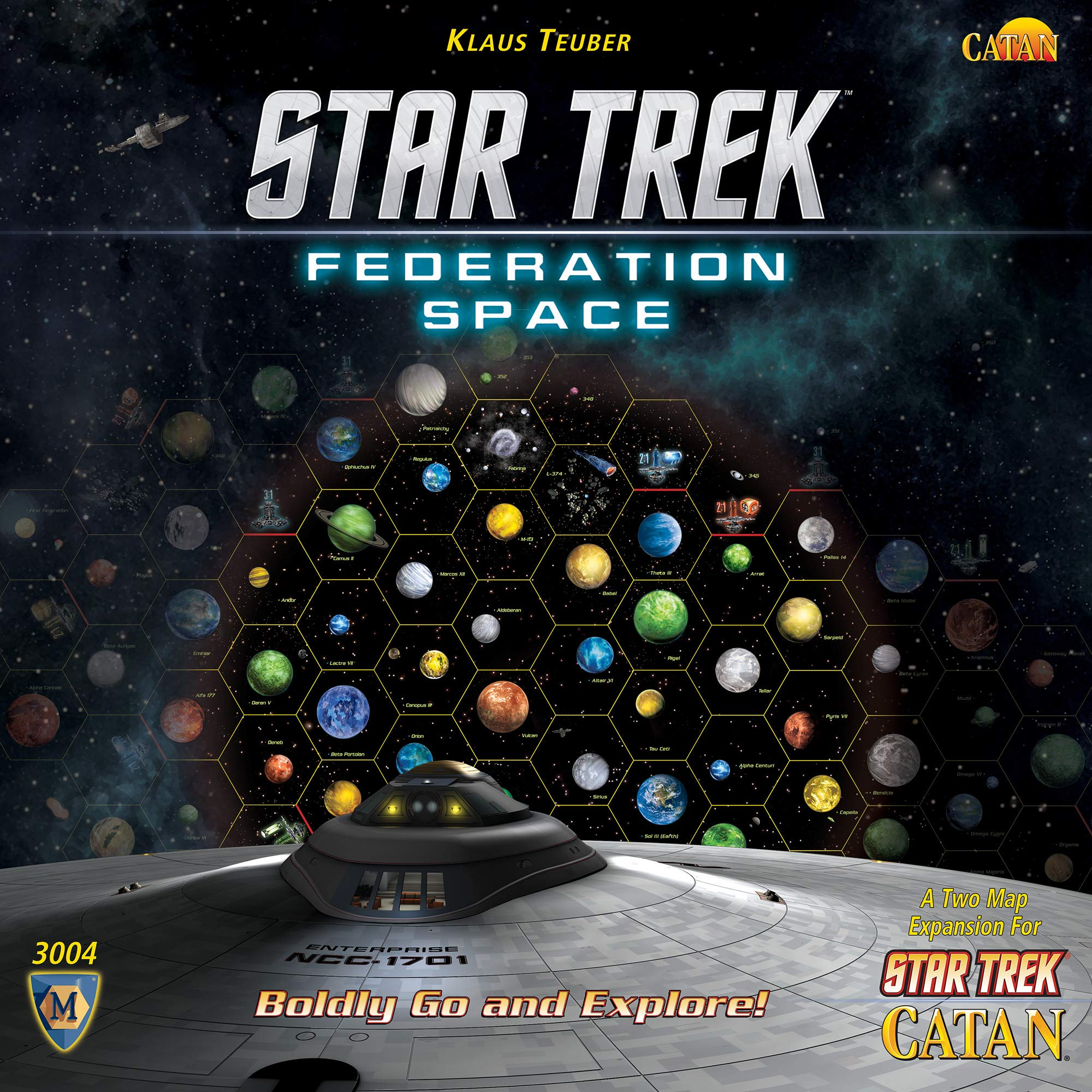 STAR TREK Catan Federation Space Map - Expansión de Juego de Mesa: Amazon.es: Juguetes y juegos