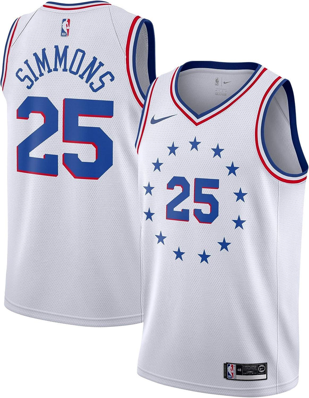 Amazon.com: Nike Ben Simmons Philadelphia 76ers White Swingman ...