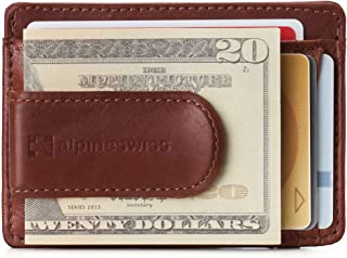 Alpine Swiss Men's RFID Dermot Money Clip Front Pocket Wallet Leather York Collection