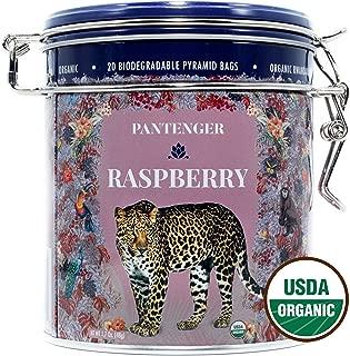 Raspberry Tea Bags. USDA Organic. Finest Black Tea Leaves, Raspberries and Hibiscus. 20 Tea Pyramid Bags