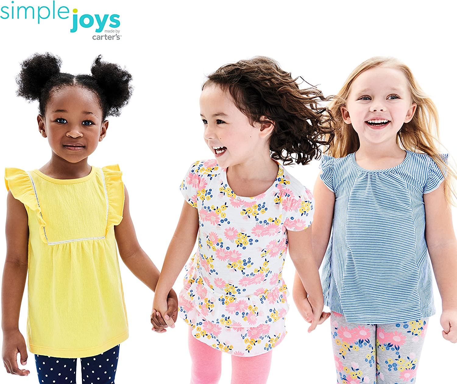 Simple Joys by Carters Toddler Girls 3-Pack Short-Sleeve Shirts and Tops