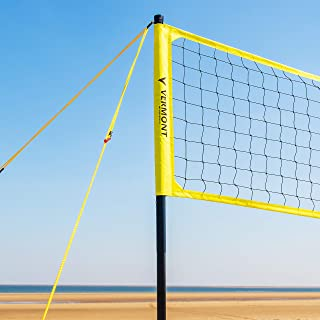 Vermont Juego de Voleibol – Postes, Red y Cinta para Marcar Campos para Voleibol/Voley Playa (con Bolsa de Transporte)