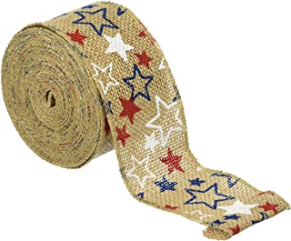 Darice Red, White and Blue Burlap Ribbon 2.5 inches x 25 feet