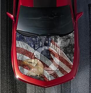 Avery H55 POW MIA AMERICAN FLAG - HOOD WRAP - Wraps Decal Sticker Tint Vinyl Image Graphic Carbon Print Laminated Printed Fiber