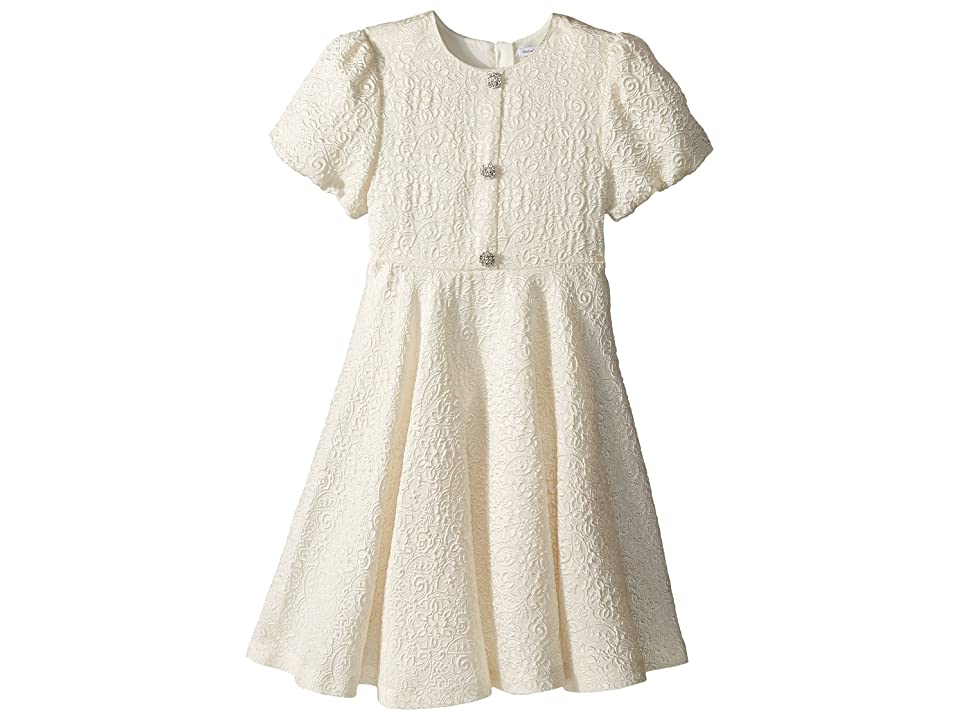 Dolce & Gabbana Kids Short Sleeve Dress (Big Kids) (White) Girl