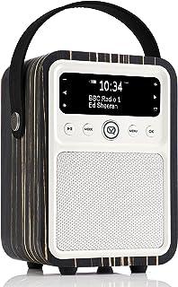 VQ Monty DAB and DAB+ Digital Radio with FM, Bluetooth, Alarm Clock - Real Wood Case Black Zebra