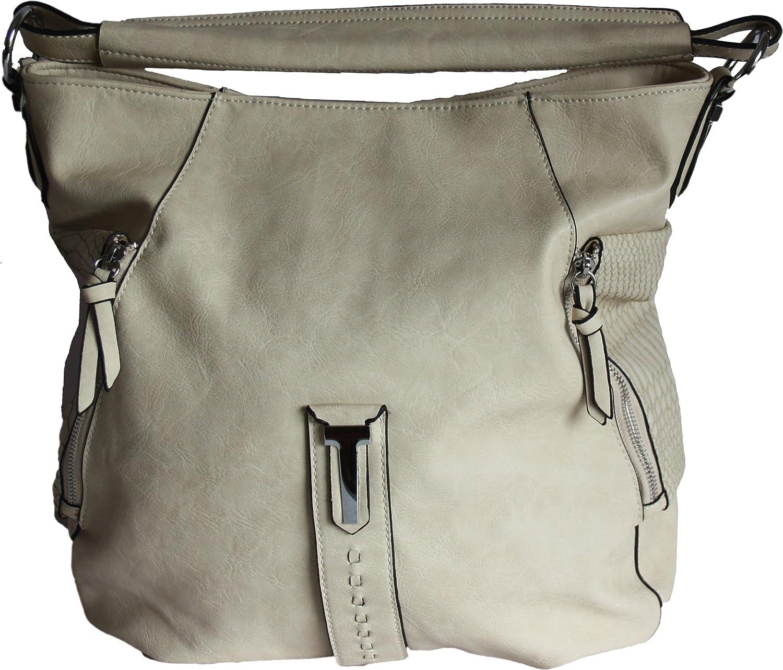 Bags Online - Paris , Damen Schultertasche Beige beige Large B07CRNP5DT  Hohe Qualität und Wirtschaftlichkeit
