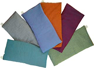 Peacegoods (6) Unscented Organic Flax Seed Eye Pillows - 4 x 8.5 - Soft & Soothing Cotton - Naturally Calming Colors