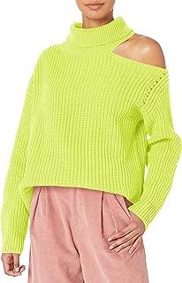 Women's Sepulveda Turtle Neck Asymmetric Cut Out Shoulder Sweater