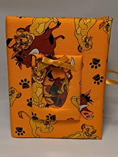 Lion King Custom Personalized Photo Album for Boy or Girl - Holds 100 4x6 Photos - Handmade