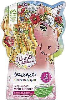 """tetesept Kinderbadplezier schuimbad """"Mein Einhorn"""" – verzorgend badadditief voor kinderen met fruitige aardbeigeur – 2 ver..."""
