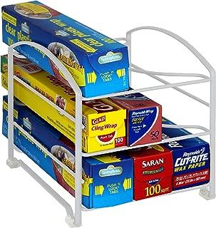 DecoBros Kitchen Wrap Organizer Rack,White (Small/Standard, 2-1/2