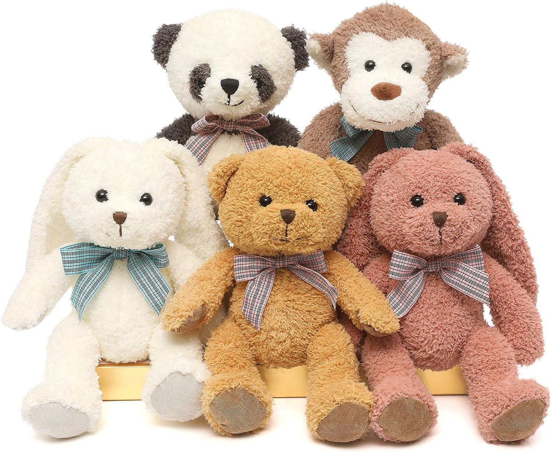 Be super welcome DOLDOA 5 Max 56% OFF Packs Soft Stuffed Animals Bear Teddy Monkey Plush Cute